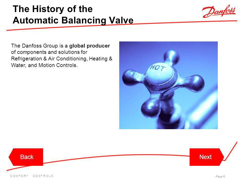 The History of the Automatic Balancing Valve