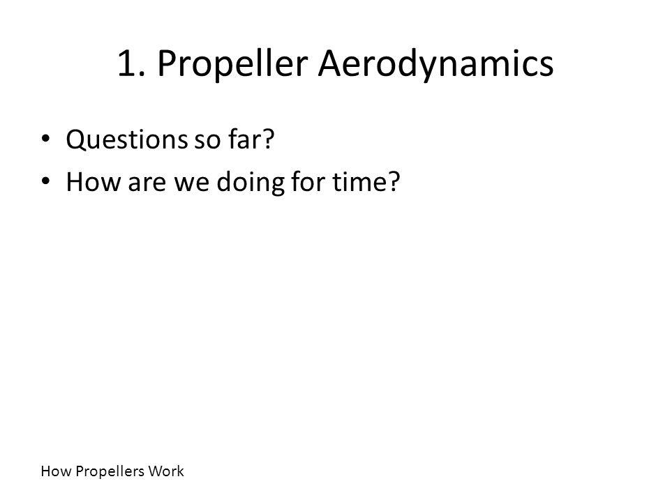 1. Propeller Aerodynamics