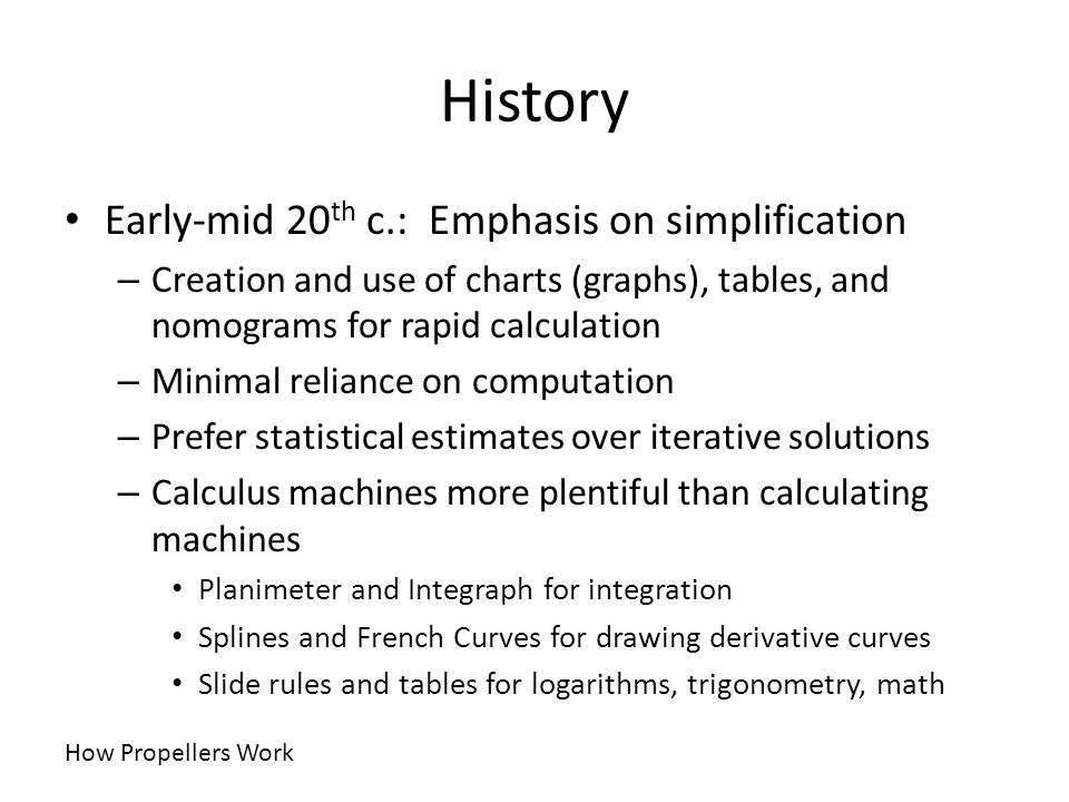 History Early-mid 20th c.: Emphasis on simplification