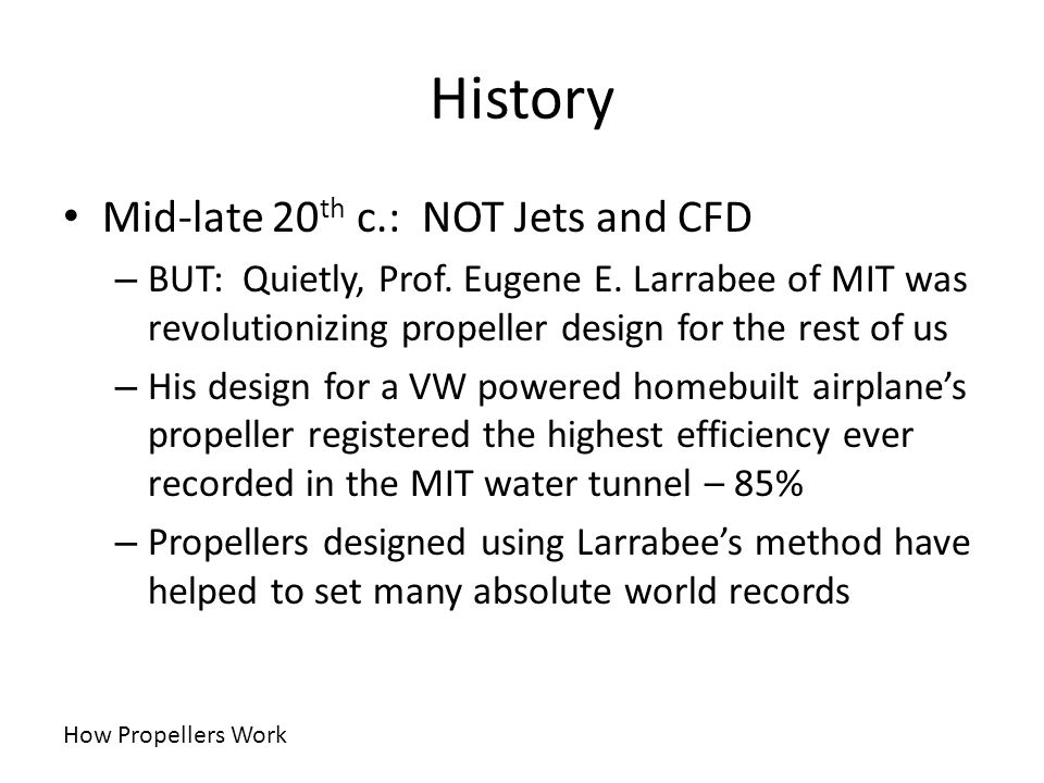 History Mid-late 20th c.: NOT Jets and CFD
