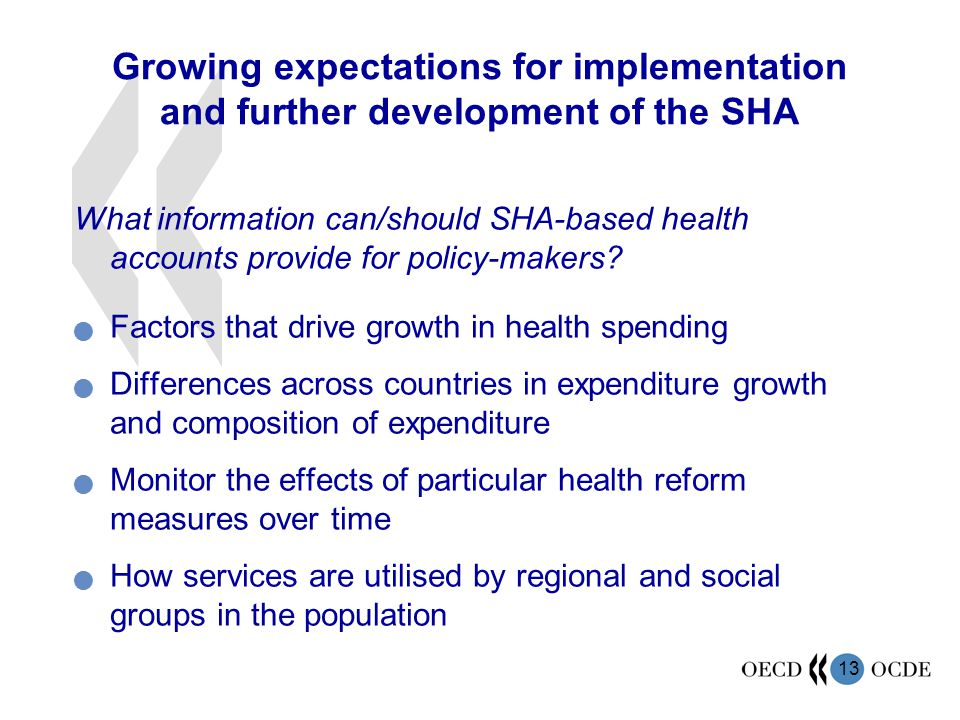 Growing expectations for implementation and further development of the SHA