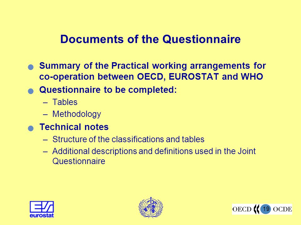Documents of the Questionnaire