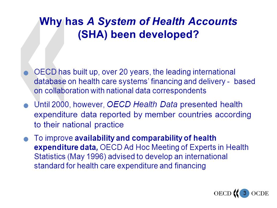 Why has A System of Health Accounts (SHA) been developed