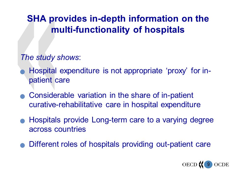 SHA provides in-depth information on the multi-functionality of hospitals
