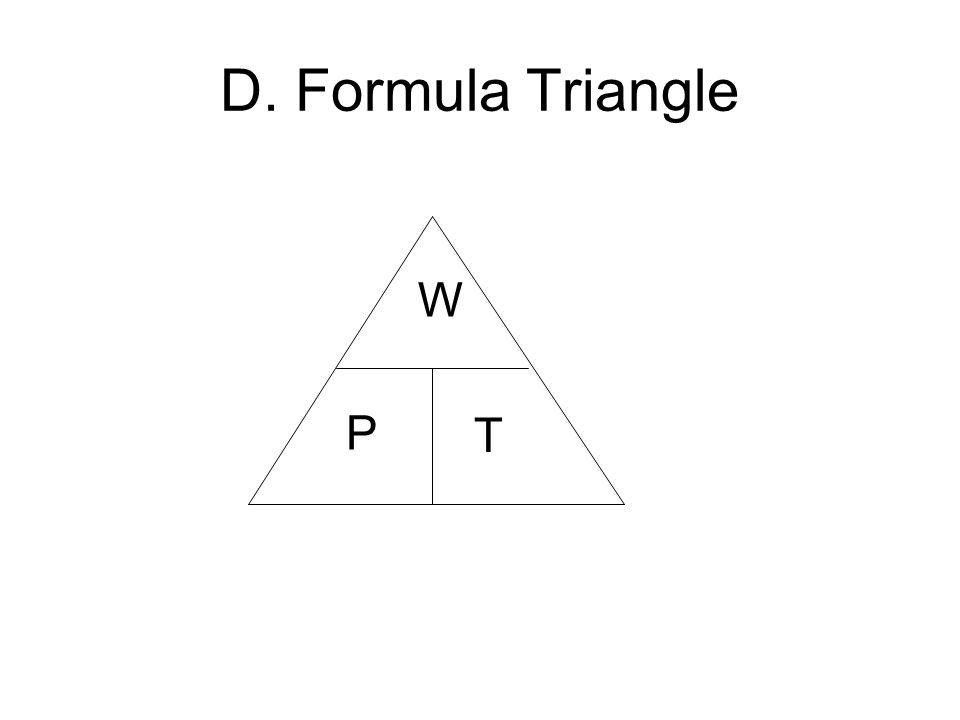 D. Formula Triangle W P T