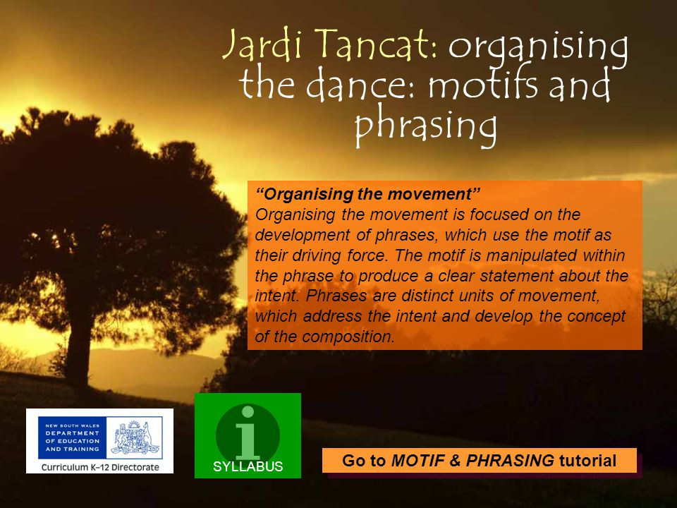 Jardi Tancat: organising the dance: motifs and phrasing