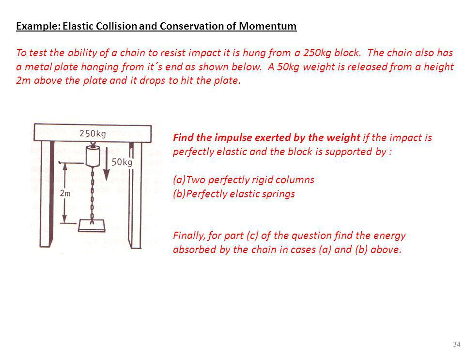 Example: Elastic Collision and Conservation of Momentum