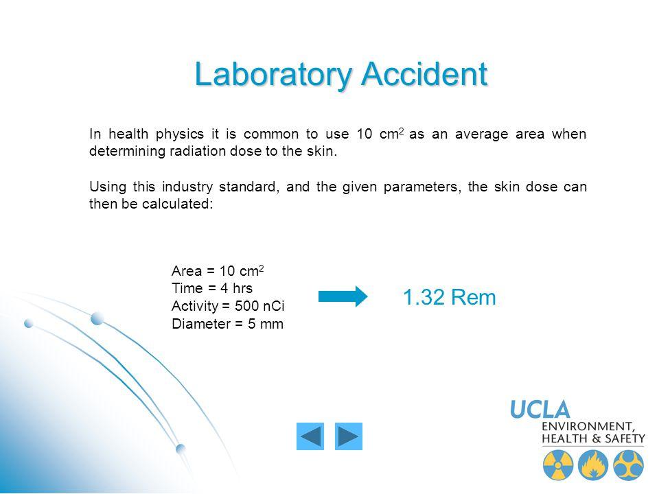 Laboratory Accident 1.32 Rem