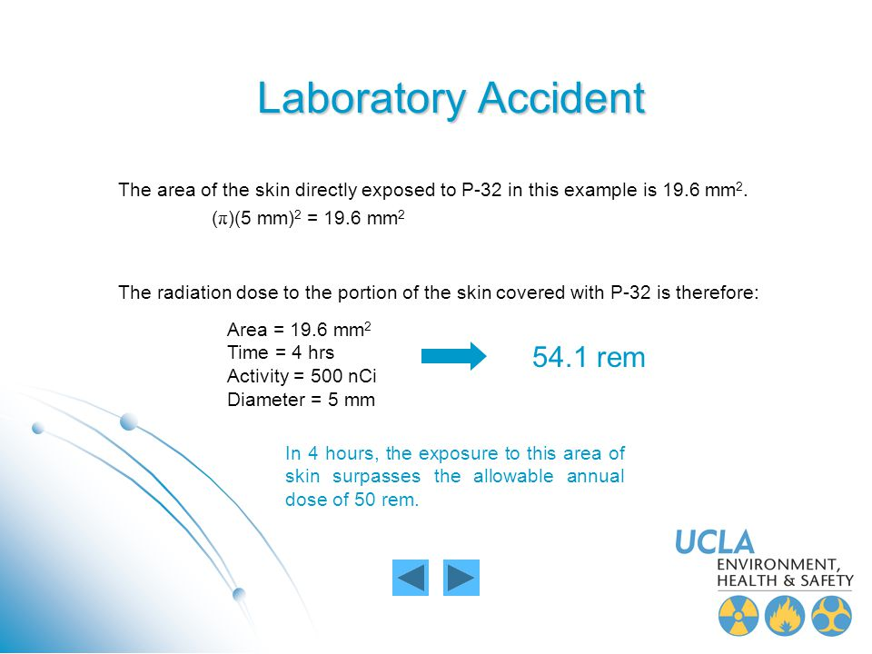 Laboratory Accident 54.1 rem