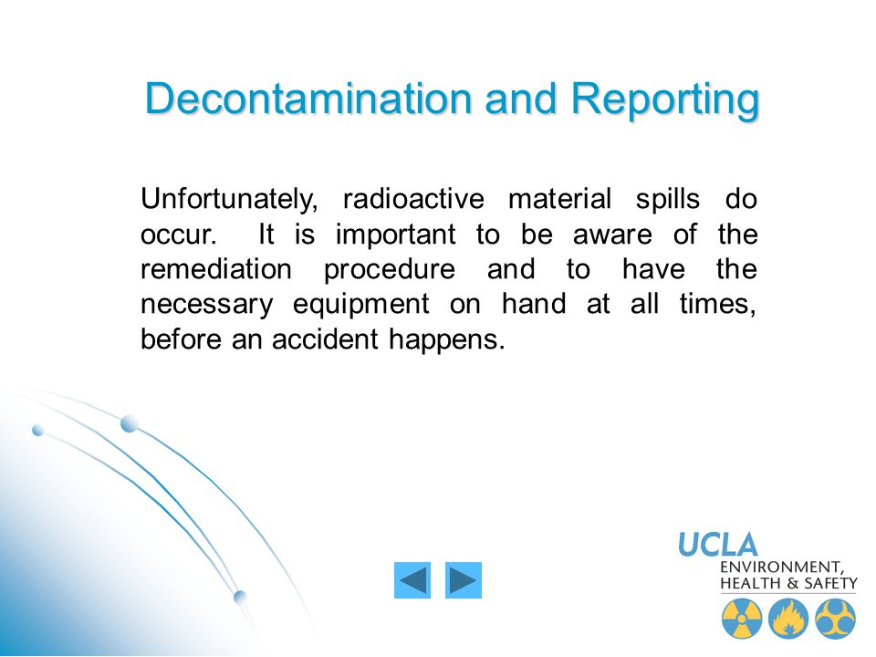 Decontamination and Reporting