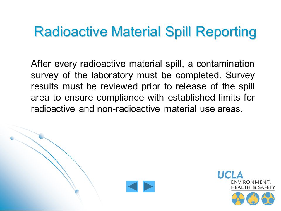 Radioactive Material Spill Reporting