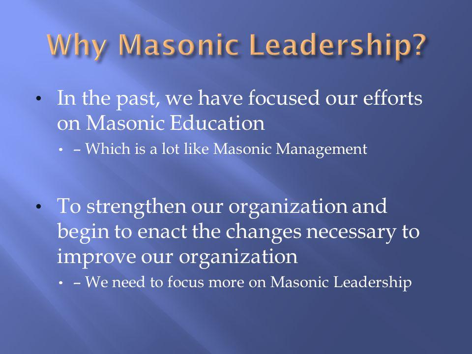 Why Masonic Leadership