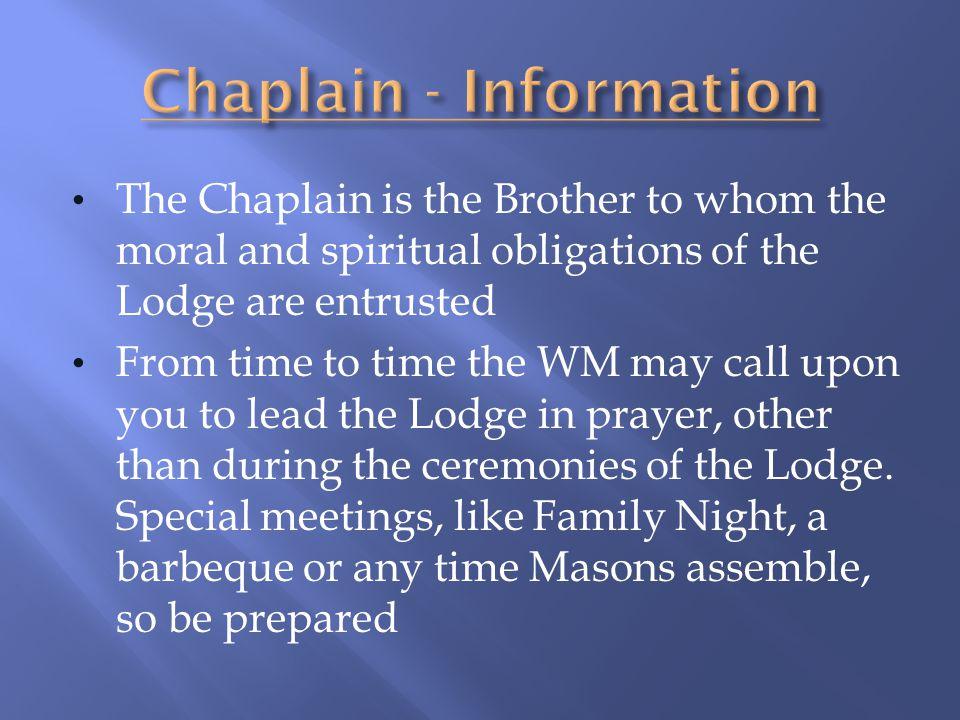 Chaplain - Information