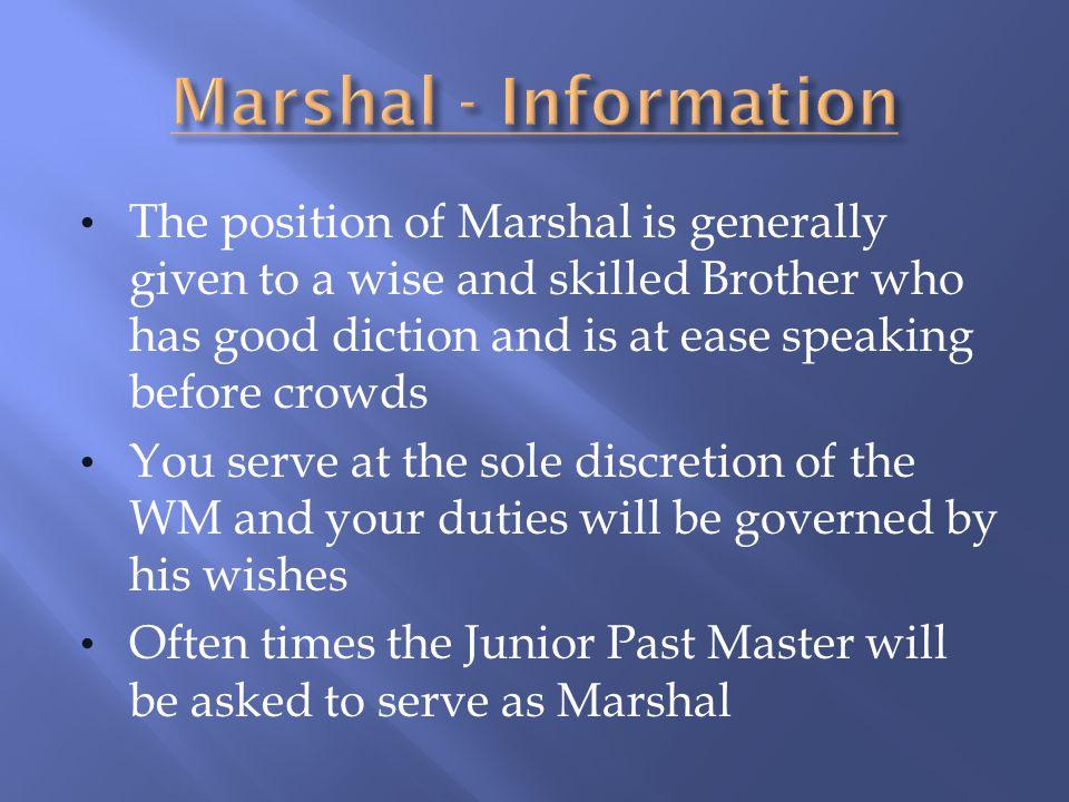 Marshal - Information
