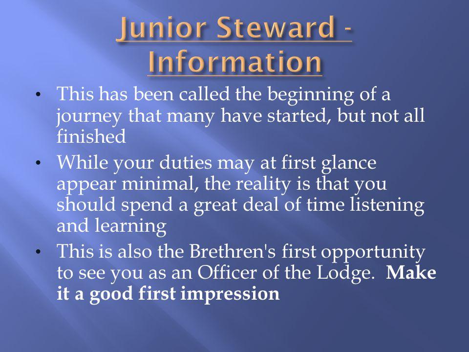 Junior Steward - Information