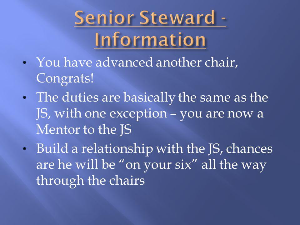 Senior Steward - Information