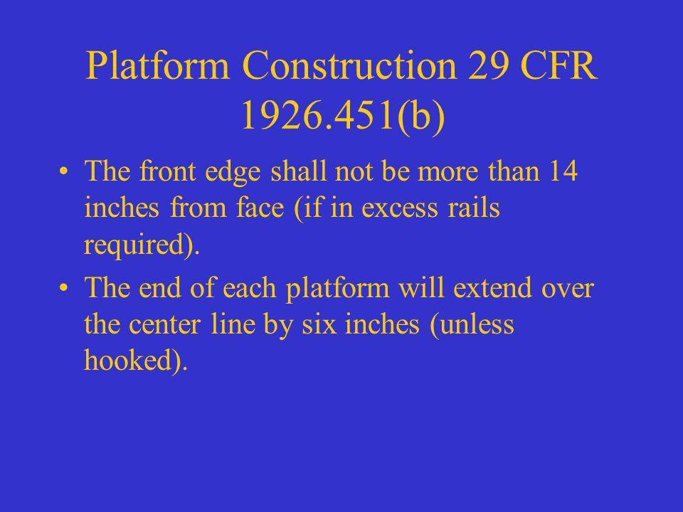 Platform Construction 29 CFR 1926.451(b)