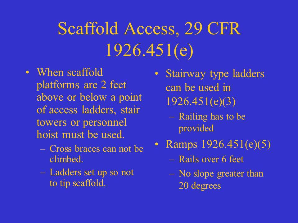 Scaffold Access, 29 CFR 1926.451(e)