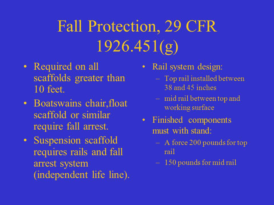 Fall Protection, 29 CFR 1926.451(g)