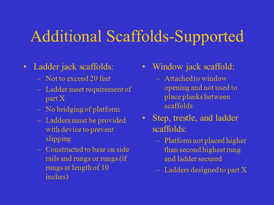Additional Scaffolds-Supported