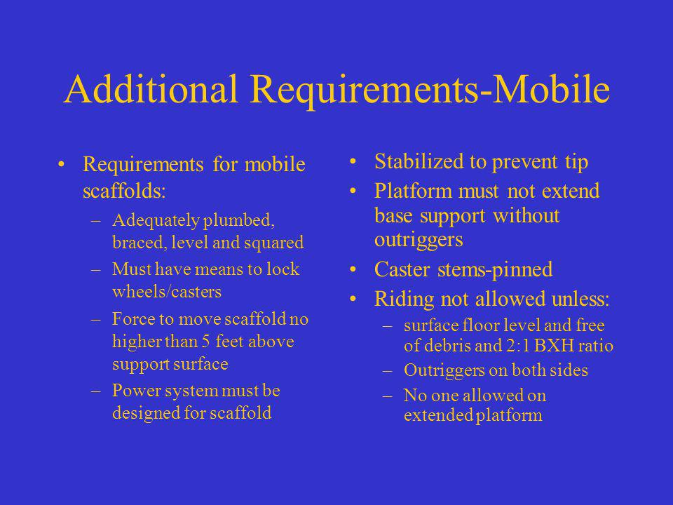 Additional Requirements-Mobile