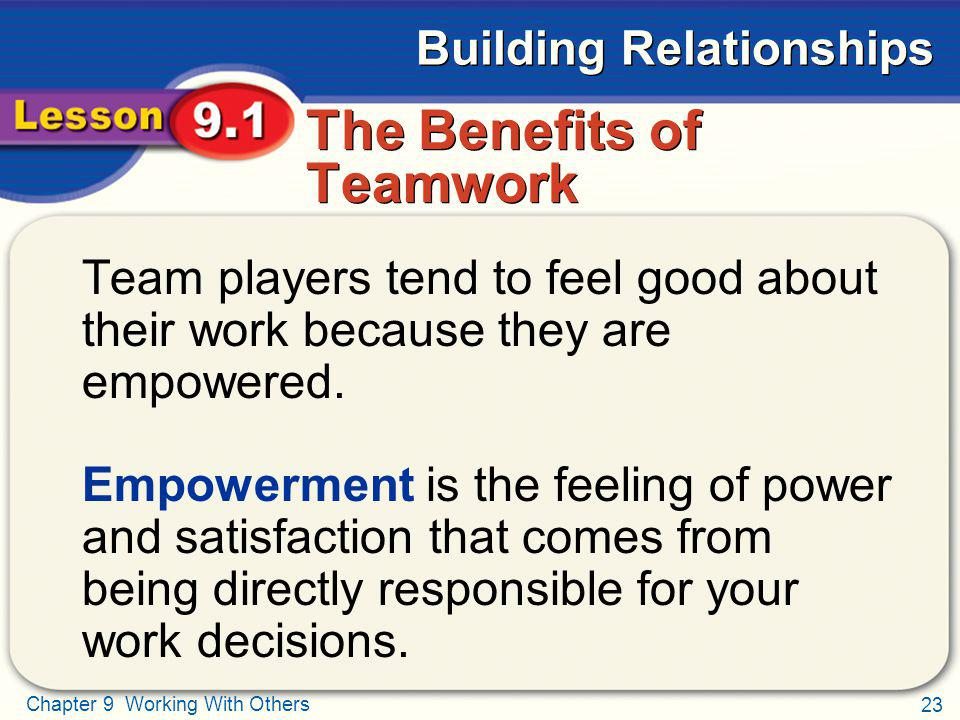 The Benefits of Teamwork
