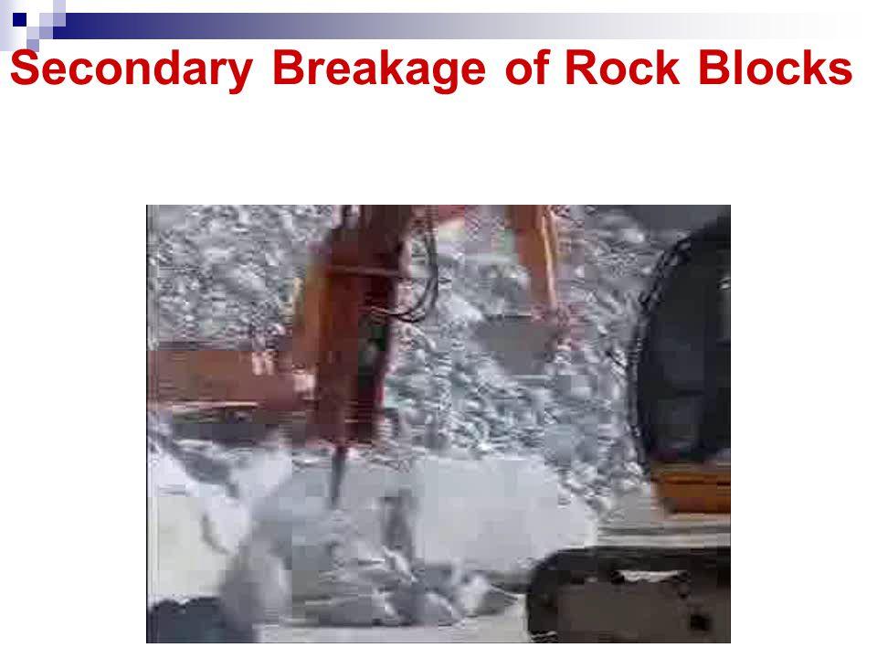 Secondary Breakage of Rock Blocks
