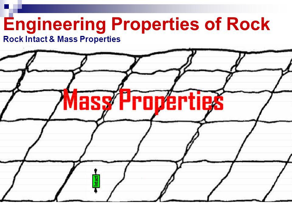 Engineering Properties of Rock Rock Intact & Mass Properties