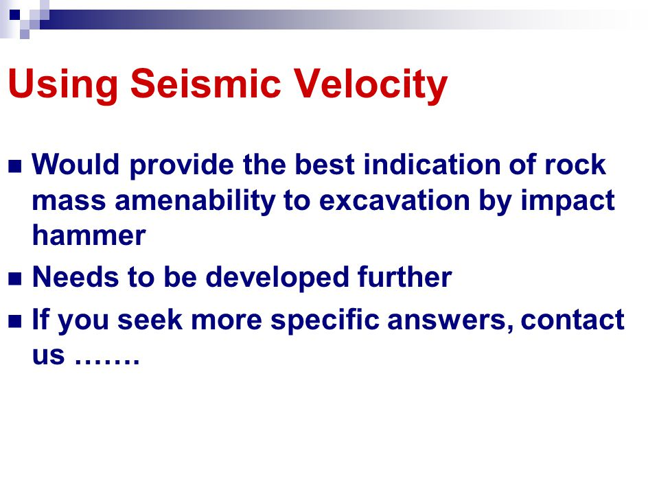 Using Seismic Velocity