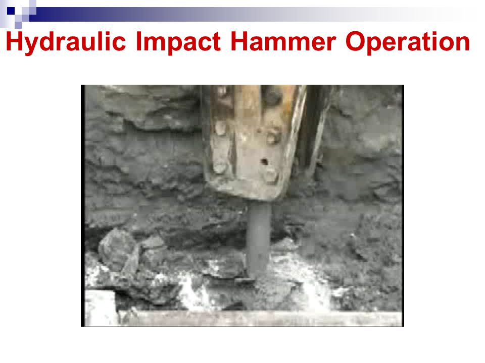 Hydraulic Impact Hammer Operation