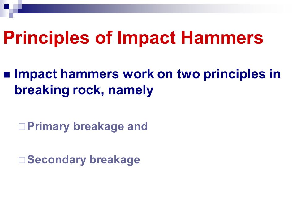 Principles of Impact Hammers