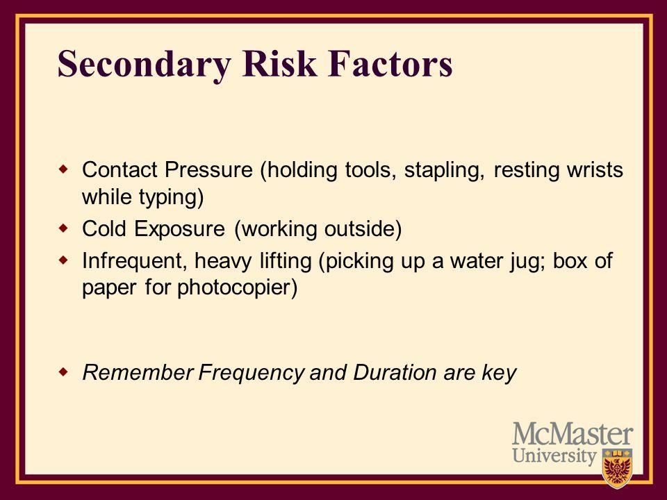 Secondary Risk Factors