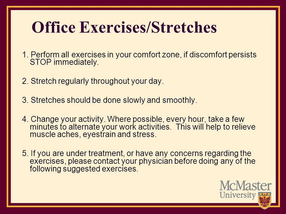 Office Exercises/Stretches