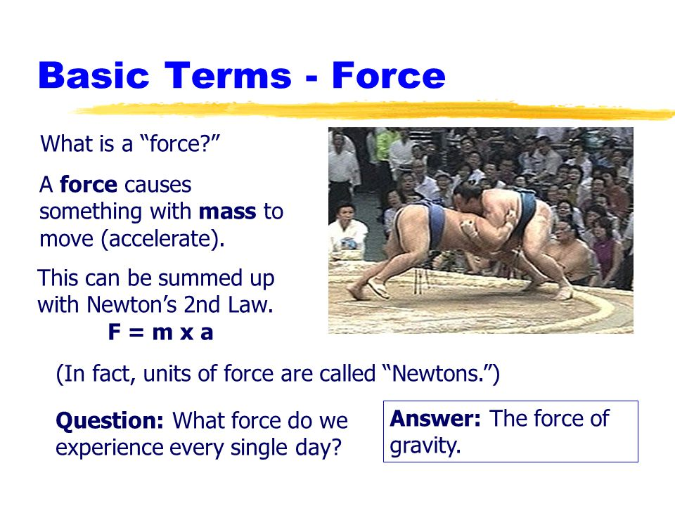 Basic Terms - Force What is a force