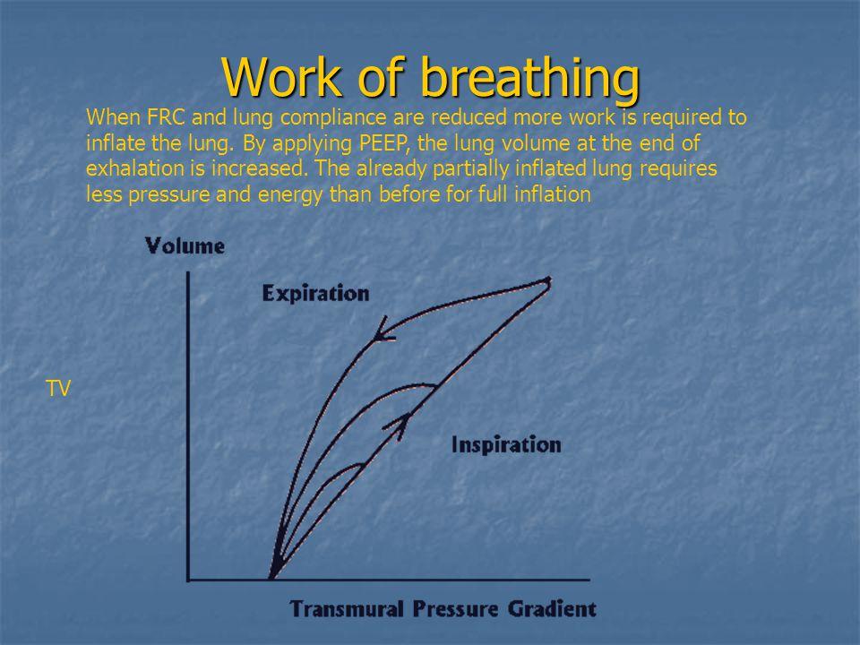 Work of breathing