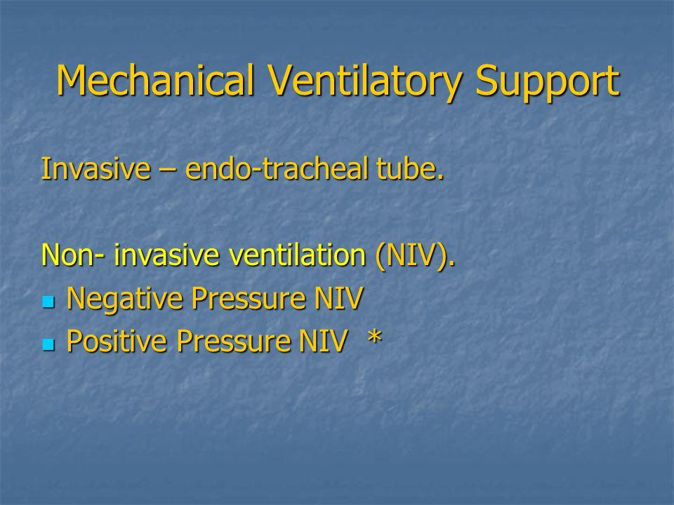 Mechanical Ventilatory Support