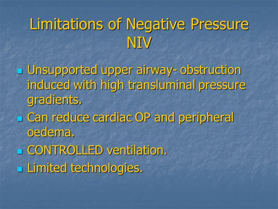 Limitations of Negative Pressure NIV
