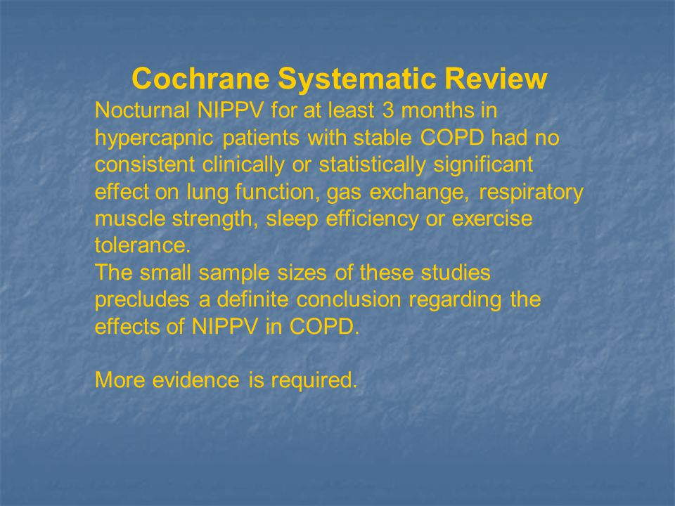 Cochrane Systematic Review