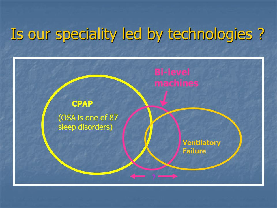 Is our speciality led by technologies