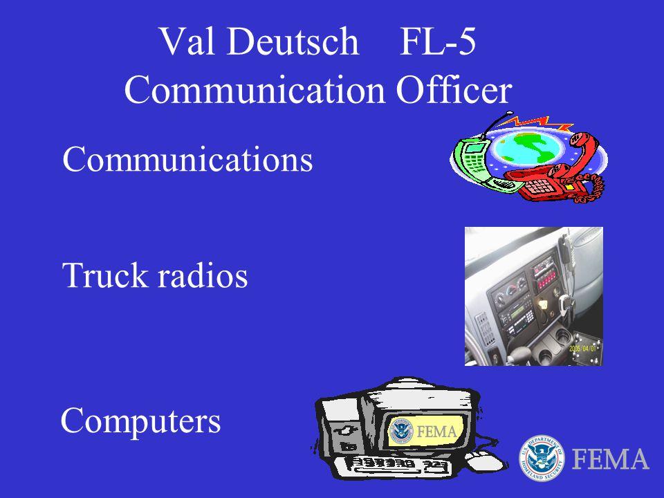 Val Deutsch FL-5 Communication Officer