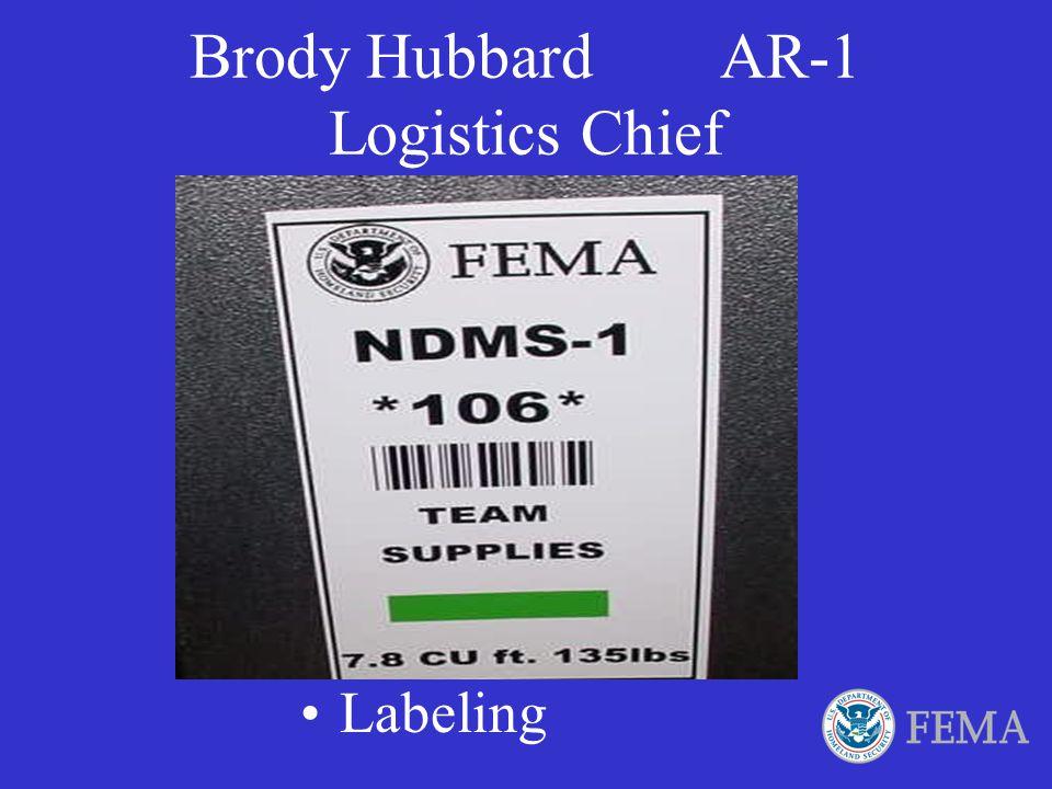 Brody Hubbard AR-1 Logistics Chief