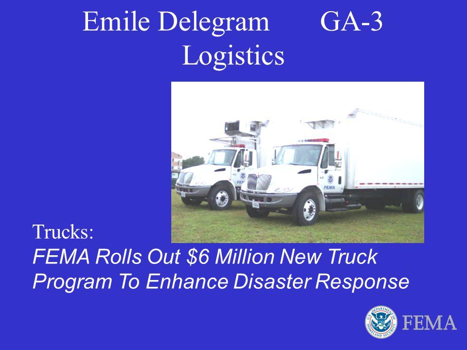 Emile Delegram GA-3 Logistics