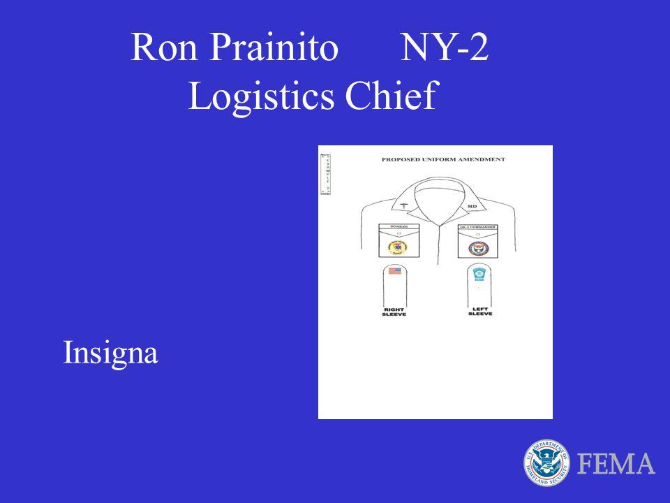 Ron Prainito NY-2 Logistics Chief