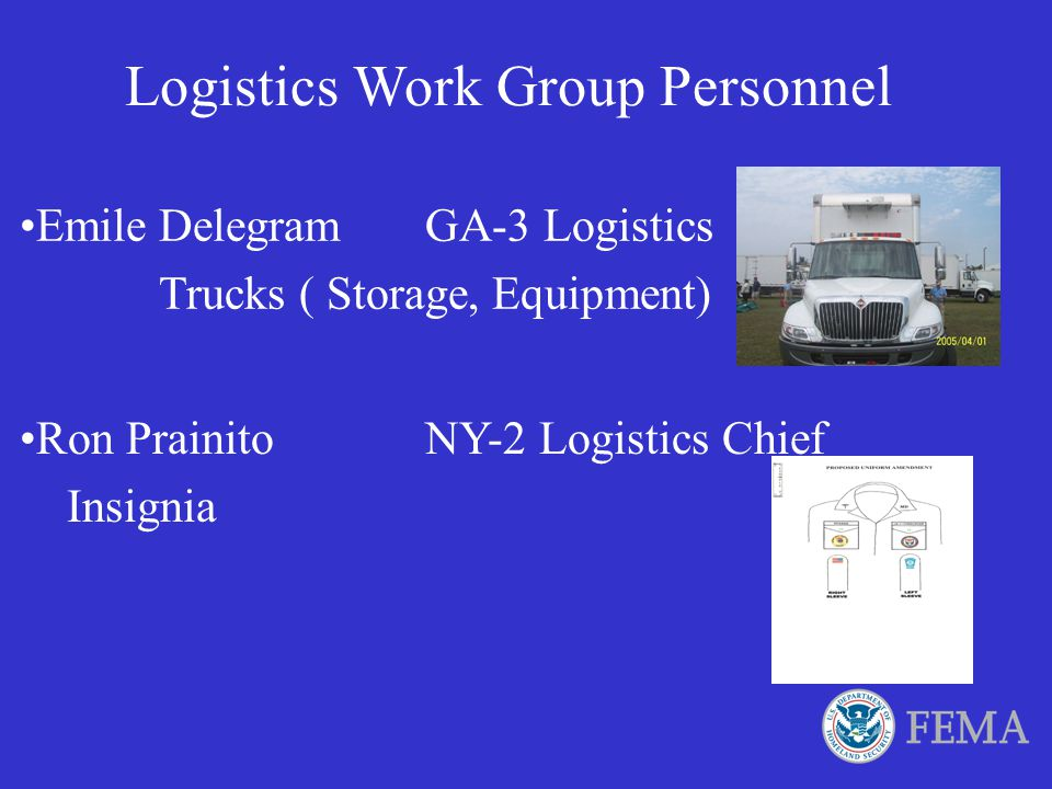 Logistics Work Group Personnel