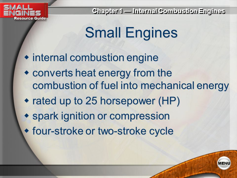 Small Engines internal combustion engine