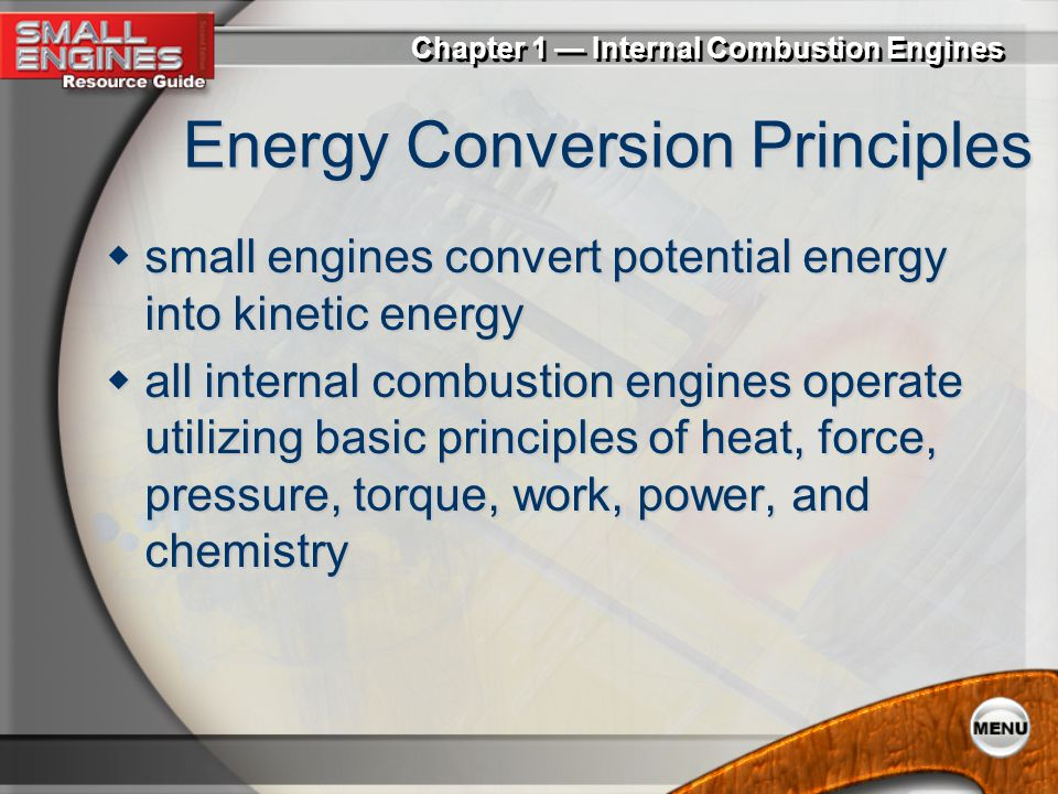 Energy Conversion Principles