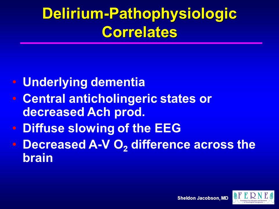 Delirium-Pathophysiologic Correlates
