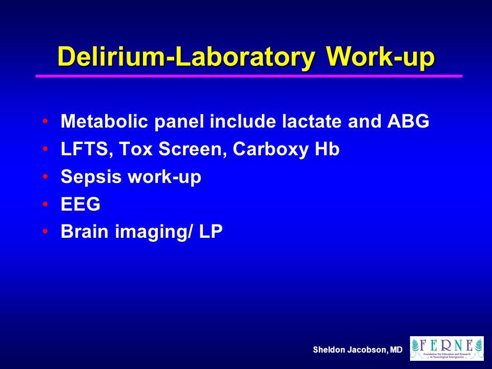 Delirium-Laboratory Work-up