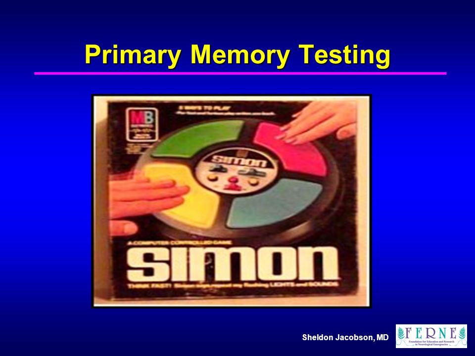 Primary Memory Testing