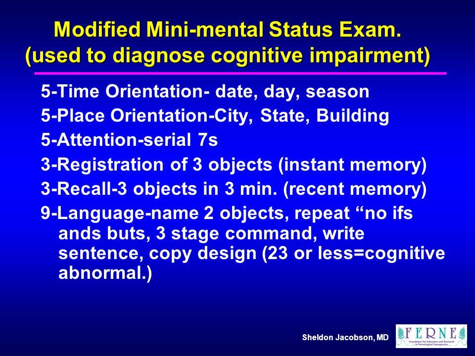 Modified Mini-mental Status Exam